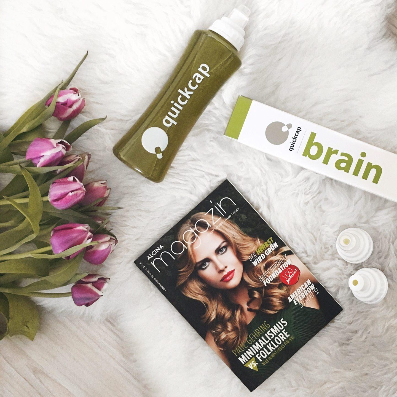 ein alcina magazin, lilane tulpfen und quickcap brain