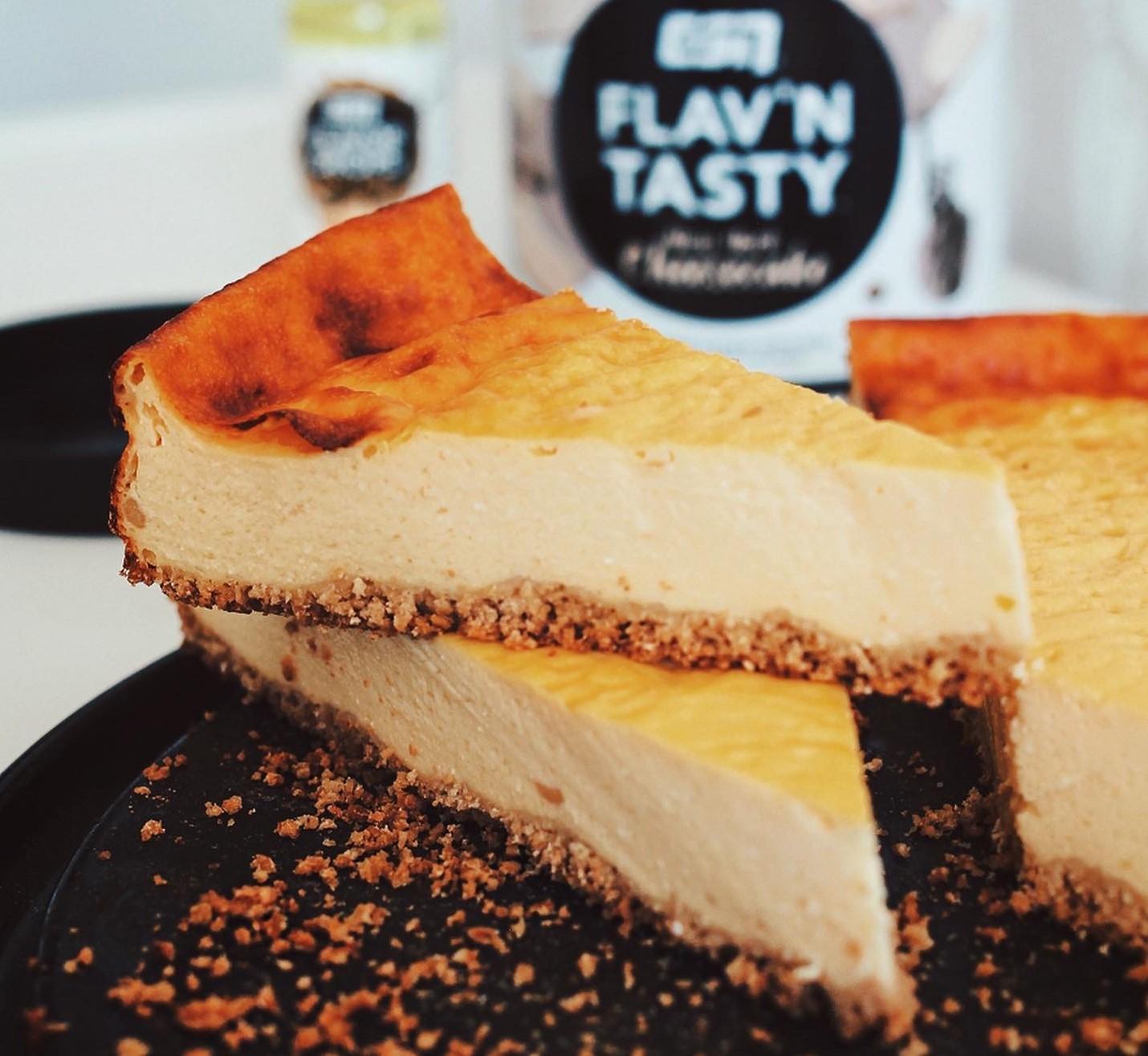 low fat käsekuchen. gesund, high protein und mit nur wenigen zutaten schnell zubereitet. gesuesst mit esn